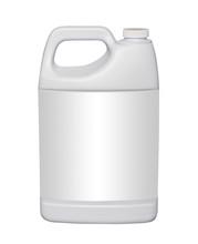Gallon Plastic Jug, Isolated