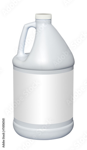 Obraz na plátně Gallon plastic jug, isolated with empty label