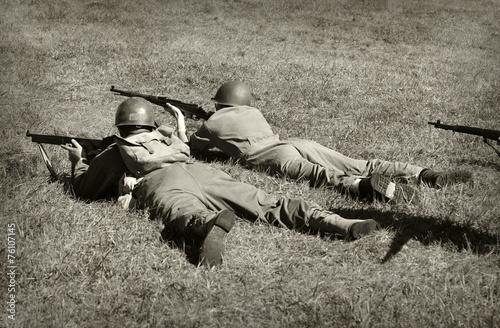 Valokuva World War 2 soldiers