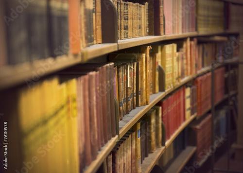 Fotografie, Obraz  book store with antique books