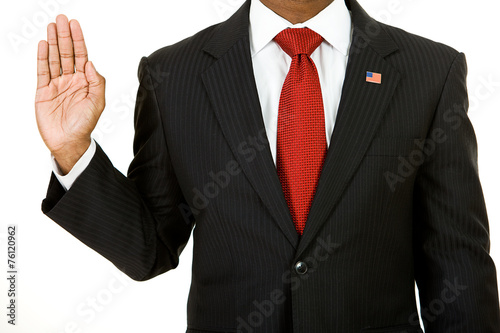 Foto Politician: Anonymous Policitician Gives Oath