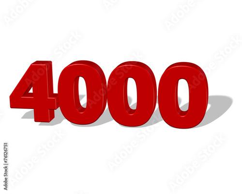 Valokuva kırmızı renkli gölgeli 4000 sayısı