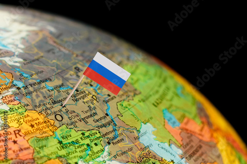 Globe map detail russia with russian flag buy this stock photo and globe map detail russia with russian flag gumiabroncs Images