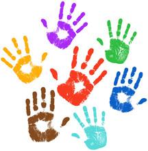 Multi Colors Handprint