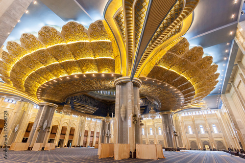 Canvas Prints Middle East Main prayer hall inside of Grand Mosque in Kuwait
