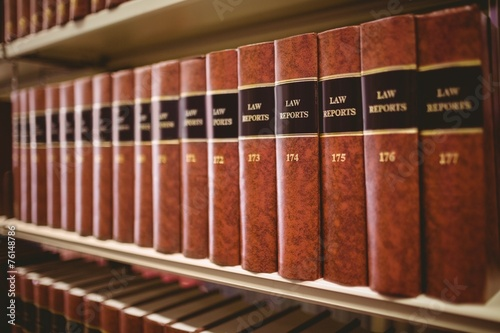 Close up of a lot of law reports Fototapeta