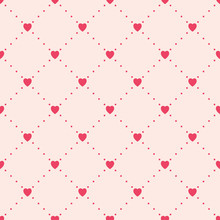 Seamless Pattern With Hearts. Valentine's Vector Texture