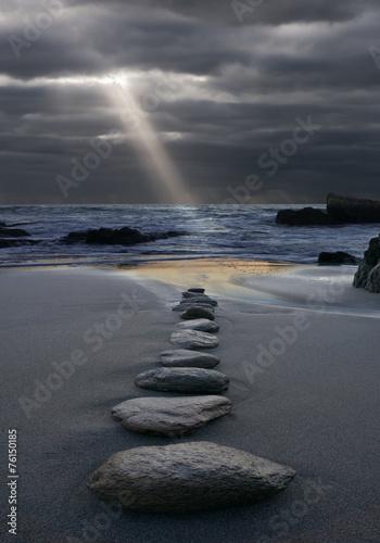 Foto op Canvas Zen Zen der Weg zum Licht