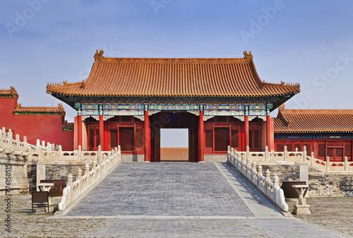 Foto op Aluminium Beijing China Forbidden city Internal Gate