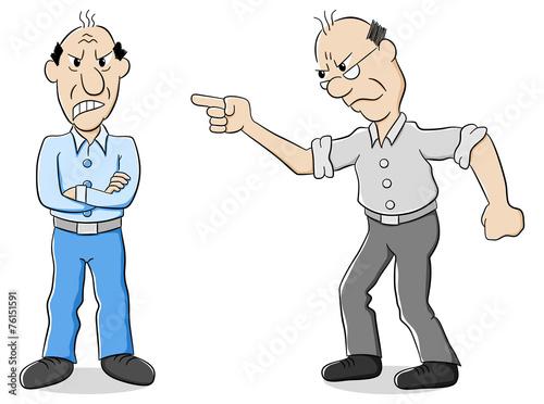 Fotografija  zwei Männer sind verschiedener Meinung