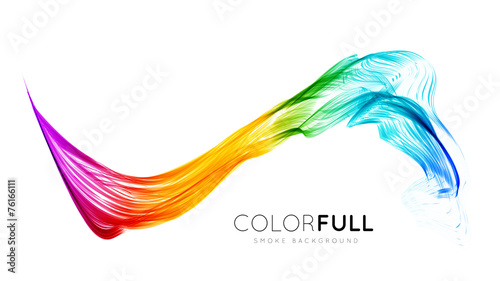 Fotobehang Abstract wave Abstract colorful background.