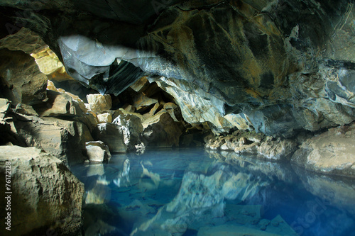 Grjotagja cave in Iceland