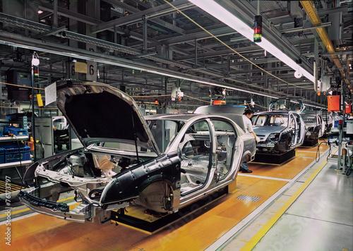 Fotografía  car production line