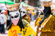 "LOEI ,THAILAND-JUNE 28: Ghost Festival ""Phi Ta Khon"". The Mask P"