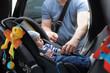 Little boy in car seat
