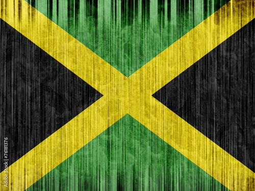 Photo jamaica flag paper texture