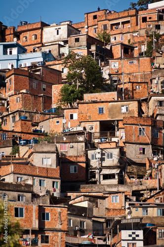 Fényképezés  Fragile Residential Constructions of Favela in Rio de Janeiro