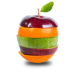 Close up mixed fruit include clipping path
