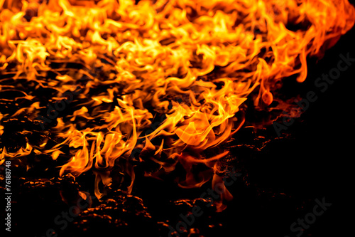 Photo  Burning fire flame