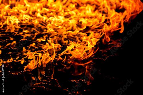 Valokuvatapetti Burning fire flame