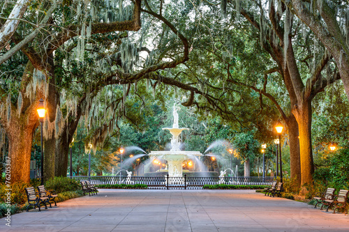 Forsyth Park in Savannah, Georgia, USA Canvas Print