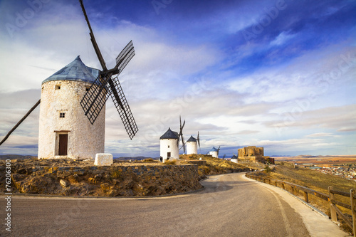 spanish windmills. Cosuegra Canvas Print