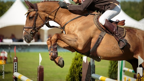 Fotografia Equestrian Sports, Show Jumping Event, Horse Jumping Competition.