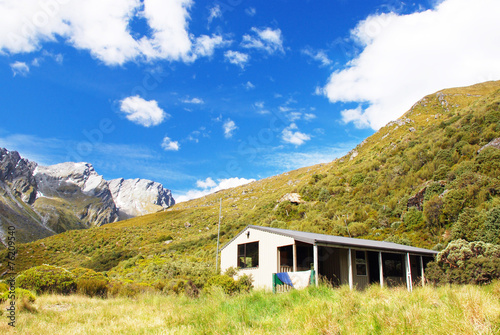 Backcountry Hut in Rees Valley, New Zealand Wallpaper Mural