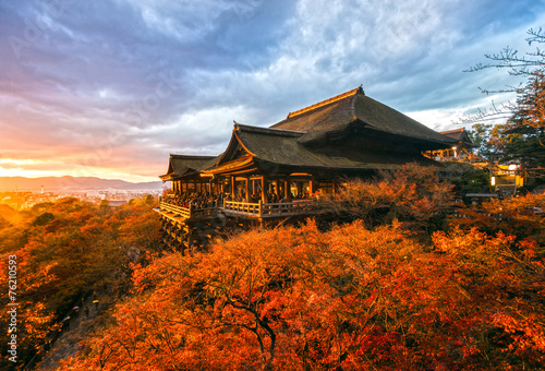 Canvas Prints Japan Kiyomizu-dera Temple in Kyoto, Japan