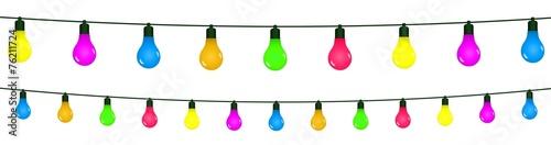 Fotografía  Guirlandes d'ampoules colorées