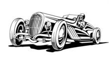 Hot Classic Retro Sports Car, ...
