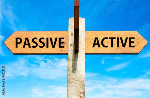 Fotografía  Passive versus Active messages