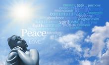 Buddha Meditating With Words Of Wisdom