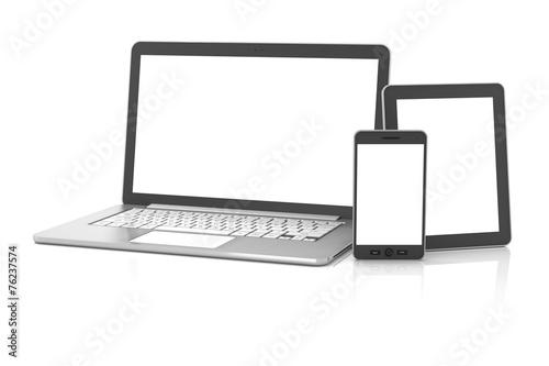 Fotografia  Gadgets including smartphone, smartwatch, tablet and laptop