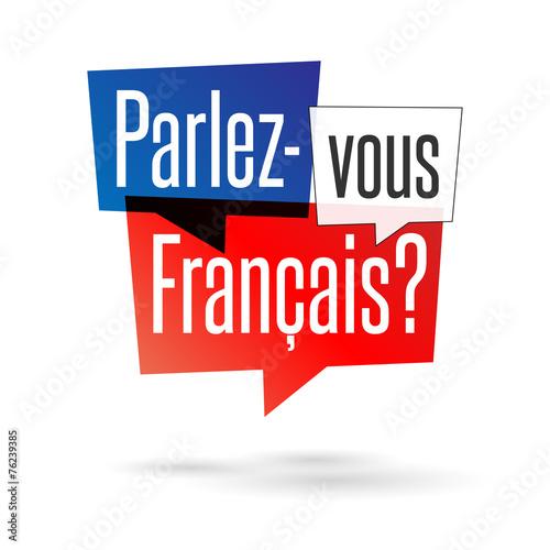 Obraz Parlez-vous français ? - fototapety do salonu