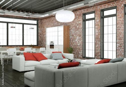 modernes Loft Interieur Design – kaufen Sie dieses Foto und finden ...