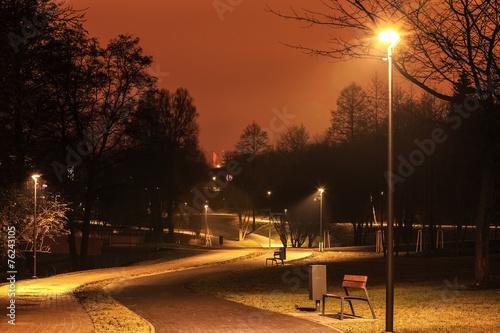 Fototapeta noc w Olsztynie