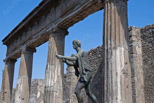 Garden Poster Napels Apollo temple in Pompei