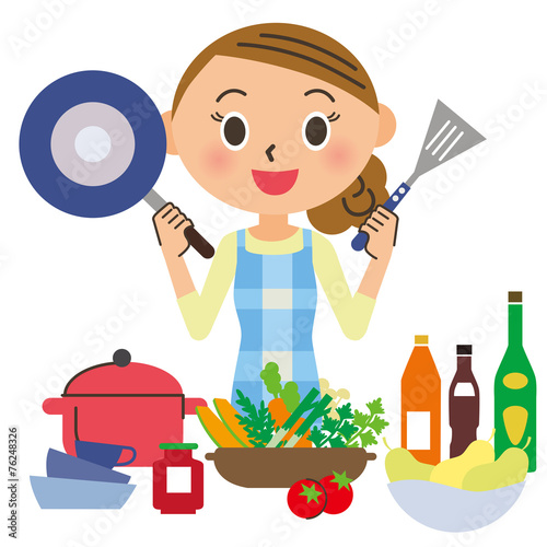 Fotografía  料理をする主婦