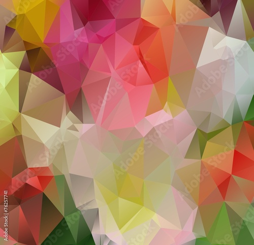 Fototapety, obrazy: Modern abstract background arranged of colorful triangles