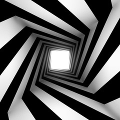 Obraz na Plexiblack and white square spiral
