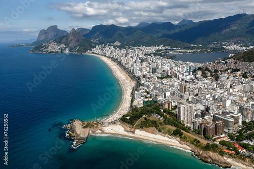 Papiers peints Bleu nuit Rio de Janeiro - Ipanema - Copacabana