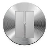 Iron round button. Raster