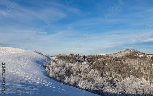 Papiers peints Cappuccino paysage hivernal des Vosges