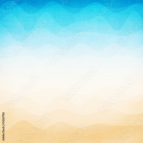 Fotobehang - Abstract colorful wave background