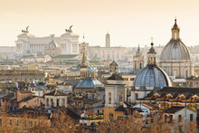 Panorama Of Old Town In Rome, ...