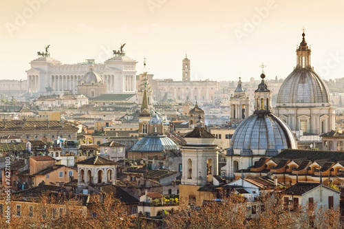 Photo  Panorama of old town in Rome, Italy