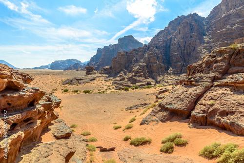 Photo  Mountains of Wadi Rum desert
