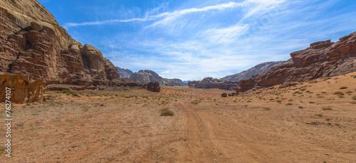 Foto op Canvas Droogte Wadi Rum desert in Jordan