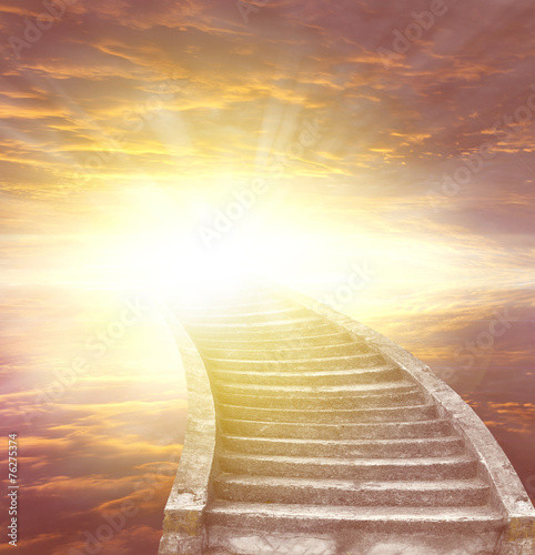 Spoed Foto op Canvas Trappen Stairway to heaven